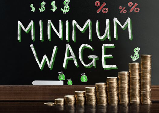 Graphic of Minimum Wage Text