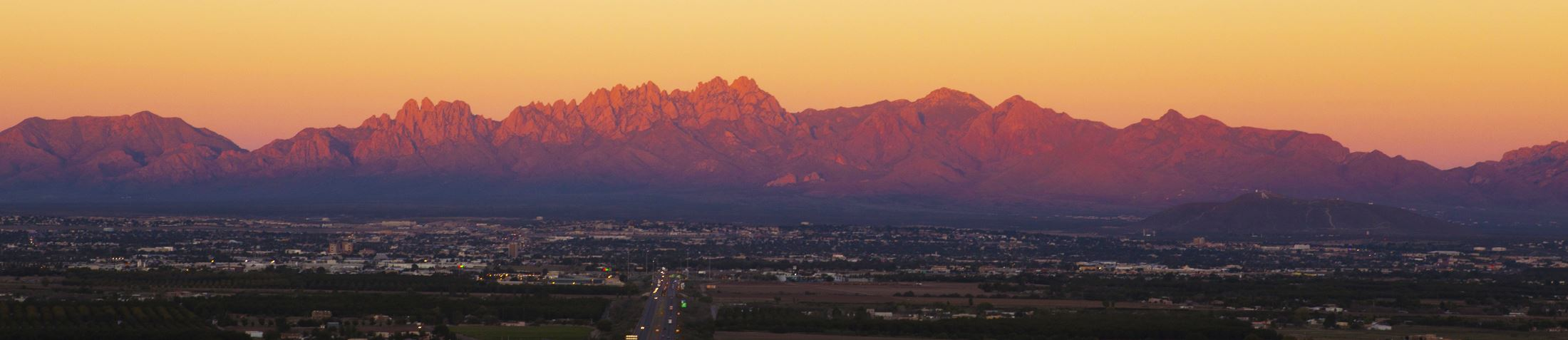 Organ Mountains during Sunset