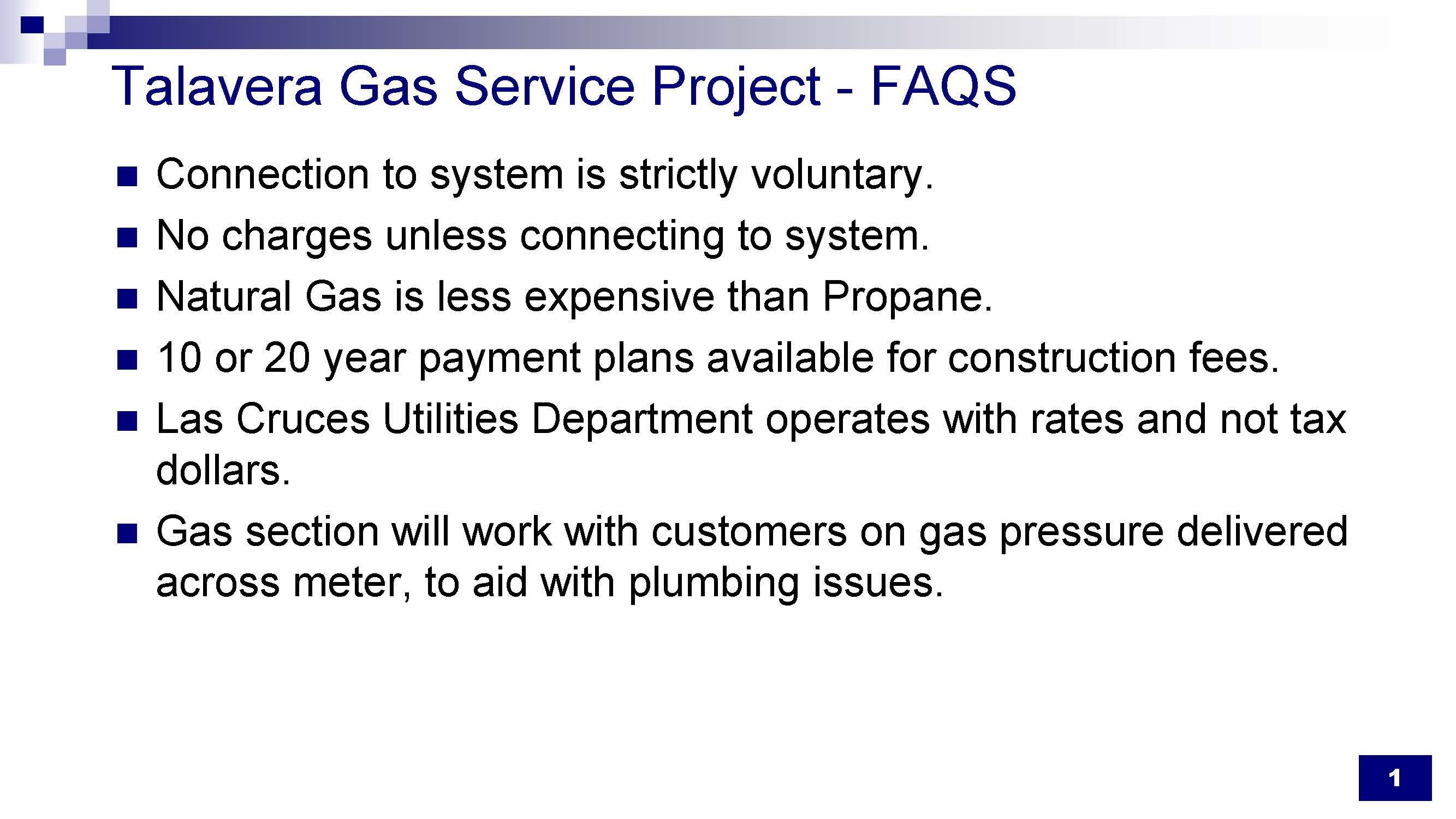 Frequently Asked Questions about the Talavera Natural Gas Expansion