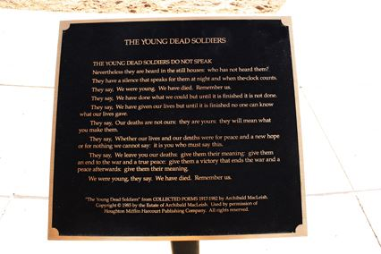 The Young Dead Soldiers Plaque