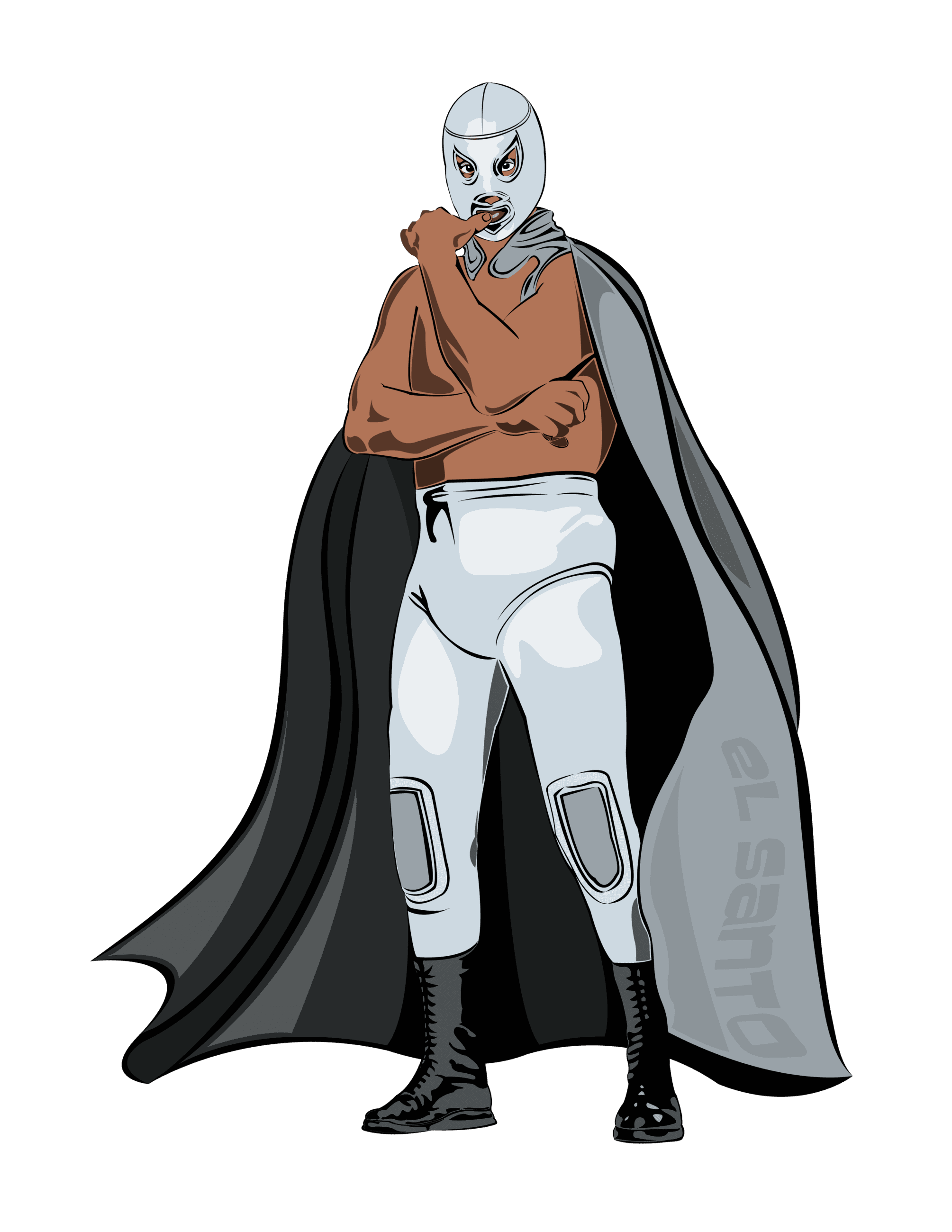 Illustration of Mexican Wrestler El Santo