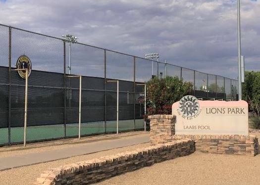 Tennis Courts at the Lions Park