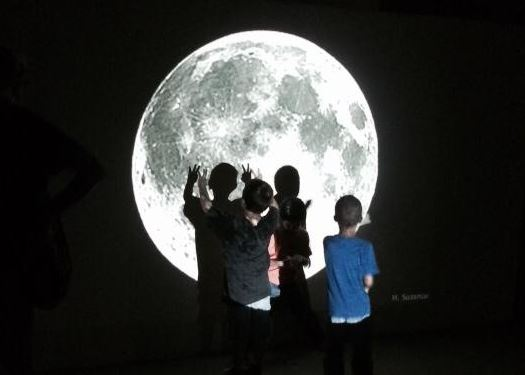 Kids exploring the moon