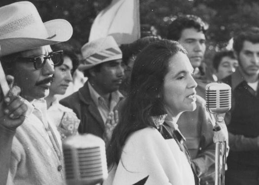 Dolores Huerta making a speech