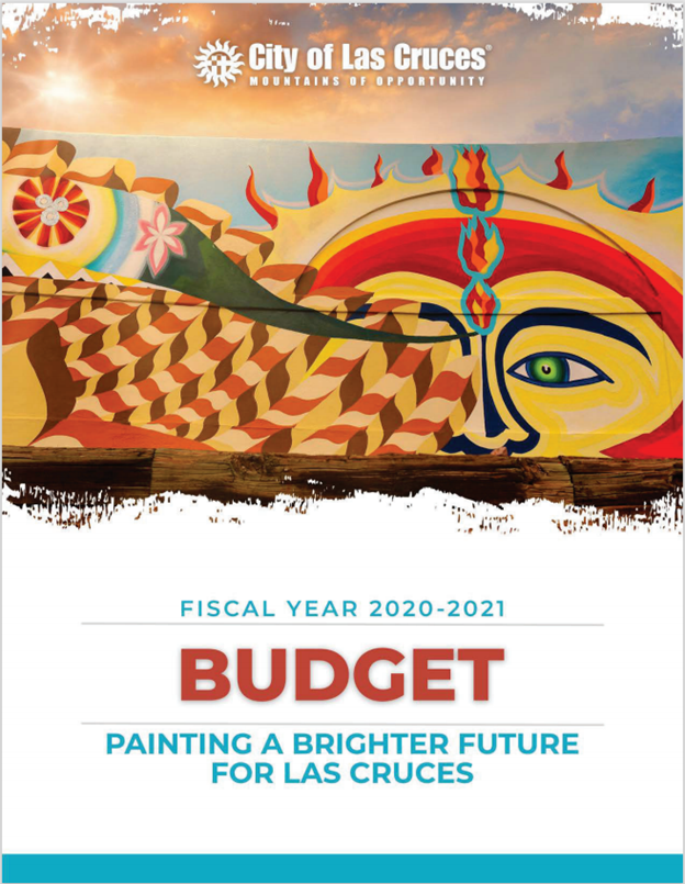 FY2021 City of Las Cruces Budget Book Cover Opens in new window