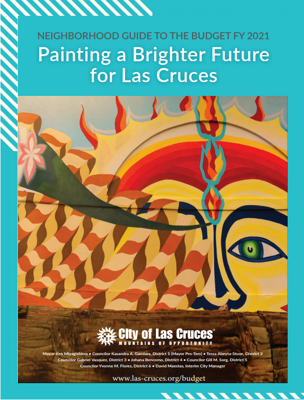 Neighborhood Guide Cover FY 2021 photo of sun mural (Photo) Opens in new window